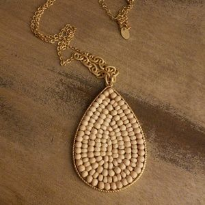 18.5 inch Gold toned Bead necklace